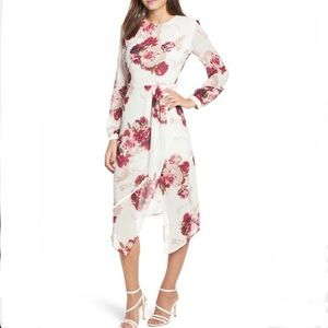 Leith Floral Rose Draped Dress
